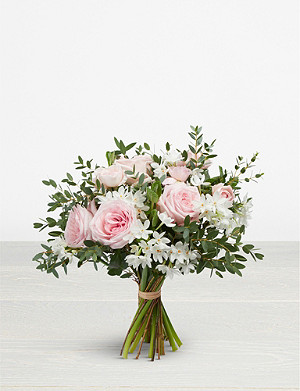 THE REAL FLOWER COMPANY Pastel Pink Spring posy