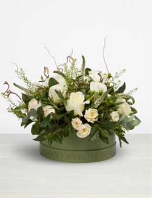 THE REAL FLOWER COMPANY Pure hat box arrangement
