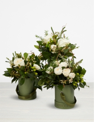 THE REAL FLOWER COMPANY Pure hat box trio