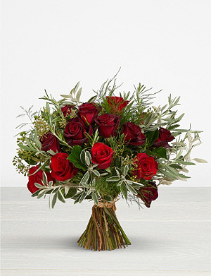 THE REAL FLOWER COMPANY Romantic Rose and Herb extra large bouquet
