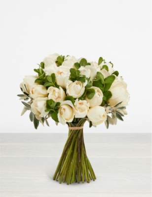 THE REAL FLOWER COMPANY Simply Cream Piaget scented bouquet