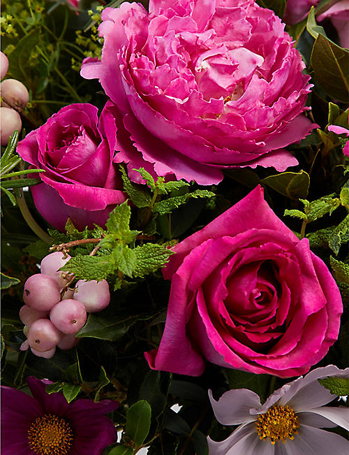 THE REAL FLOWER COMPANY Seasonal Hot Pink scented bouquet