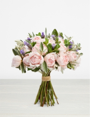 THE REAL FLOWER COMPANY Simply Peony Pink scented bouquet