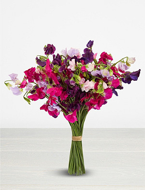 THE REAL FLOWER COMPANY English Sweet Peas medium scented bouquet