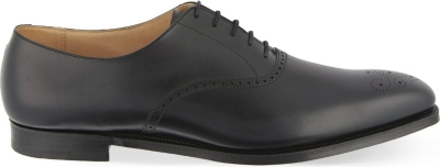 CROCKETT & JONES Edgeware punched leather Oxford shoes
