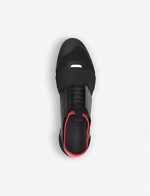 BALENCIAGA Capsule Race Runners leather, suede and mesh trainers