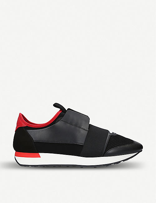 buy popular 6bf40 8f637 BALENCIAGA Mens Capsule Race Runners leather, suede and mesh trainers