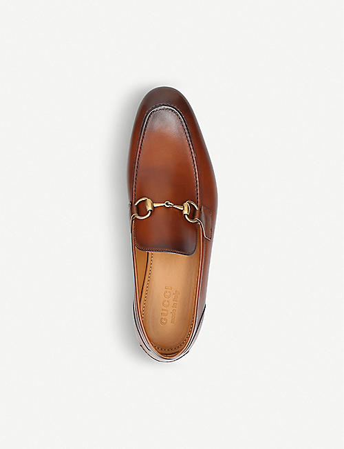 GUCCI Jordan horsebit-detail leather loafers