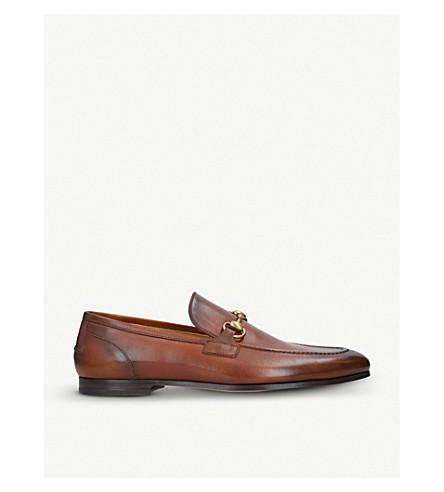 8e54b2c382e ... GUCCI Jordan horsebit-detail leather loafers (Tan. PreviousNext