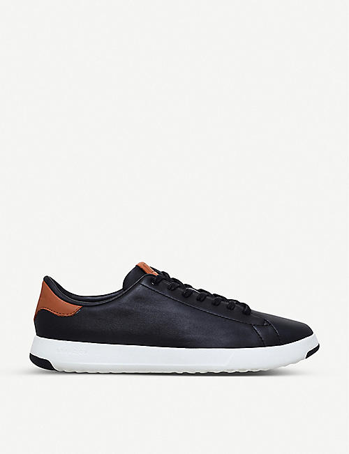 COLE HAAN: GrandPrø Tennis leather trainers