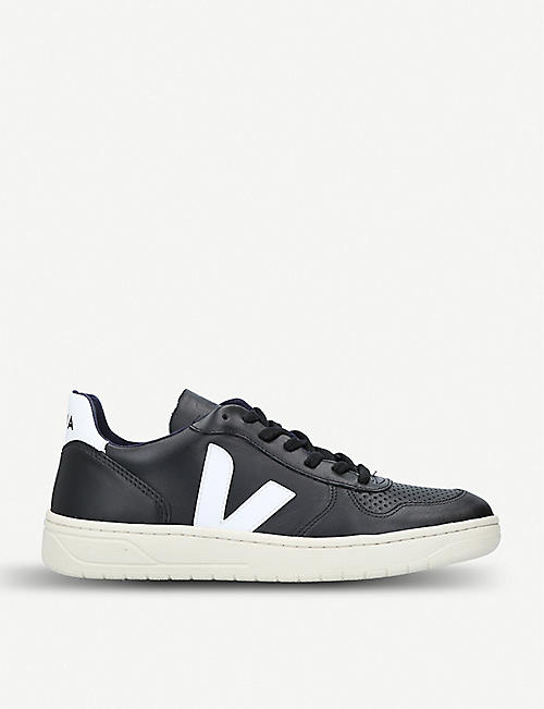 VEJA: V10 leather and mesh trainers