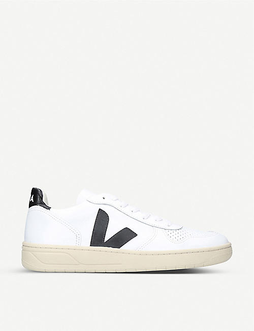 VEJA V10 leather and mesh trainers