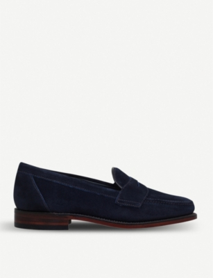 LOAKE Eton suede Penny loafers