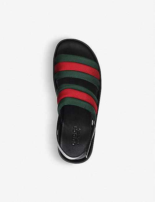 GUCCI Sam webbed leather sandals