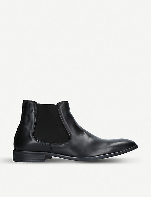 KURT GEIGER LONDON: Frederick leather Chelsea boots