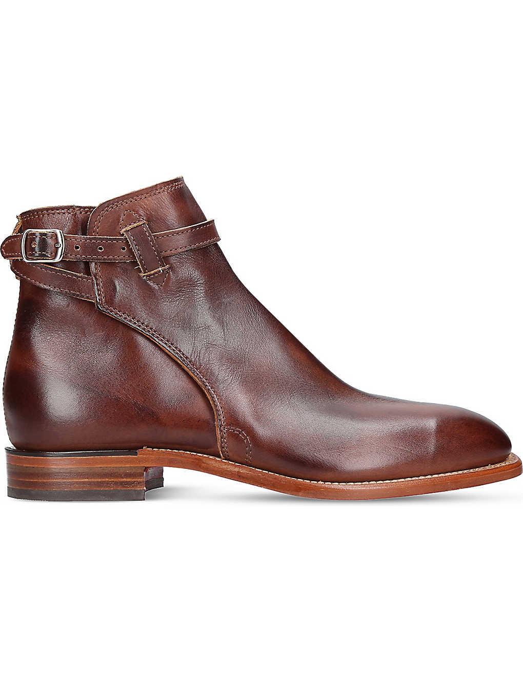 646727a4168 R M WILLIAMS - Stockmans leather buckle boot | Selfridges.com