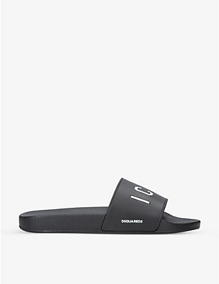 DSQUARED2: Icon rubber pool sliders