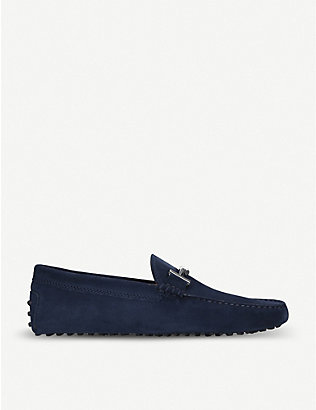 TODS: Double T suede driving shoes