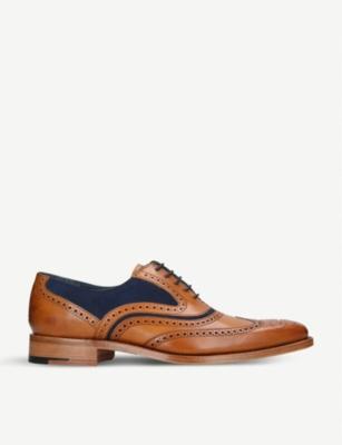 BARKER Barker McClean leather and suede oxford brogues