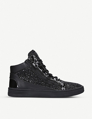 KURT GEIGER LONDON Jacobs high-top glitter trainers