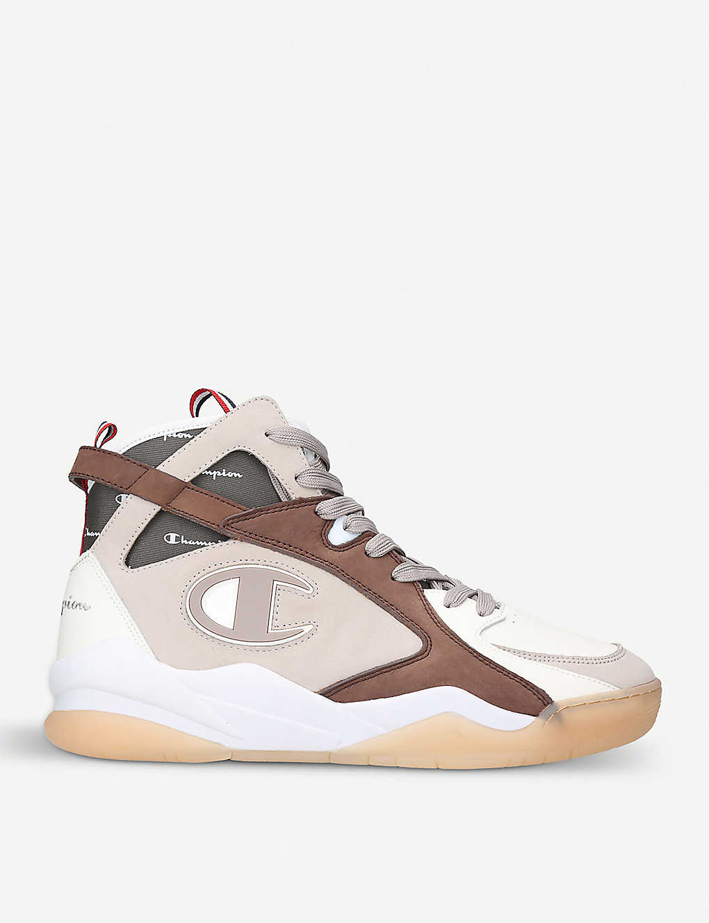b78e81b6b93 CHAMPION - Zone 93 high-top leather and suede trainers