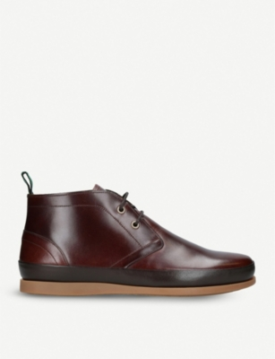 PAUL SMITH Cleon Chukka leather boots