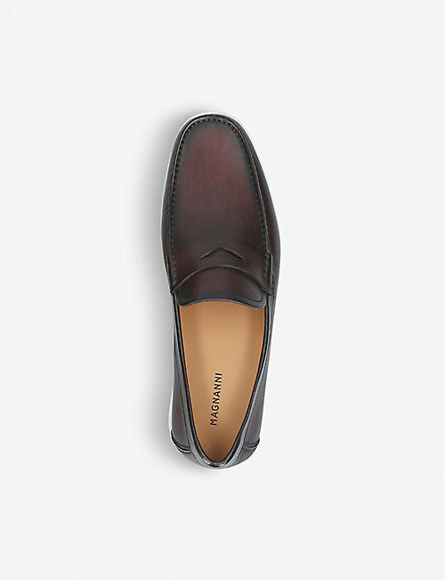 MAGNANNI Penny leather boat shoes