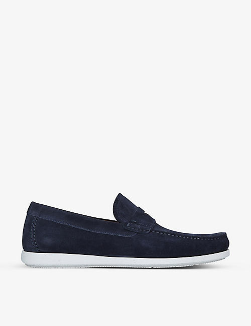 MAGNANNI: Penny suede boat shoes