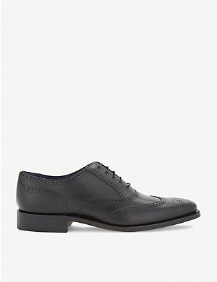 BARKER: Leather oxford brogues