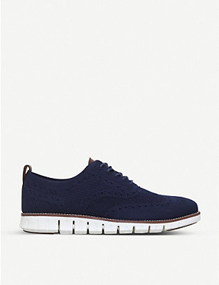 COLE HAAN: Zerogrand Stitchlite knit oxford shoes