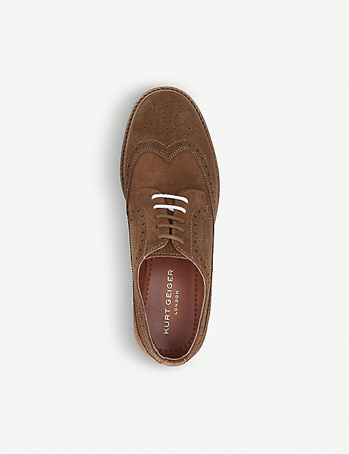 KURT GEIGER LONDON Julian suede brogues