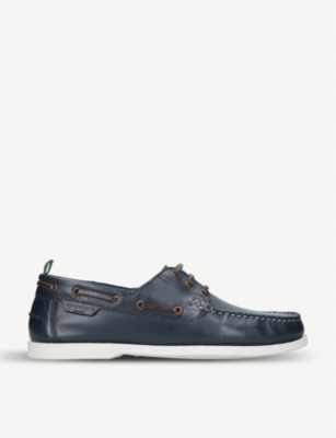 KURT GEIGER LONDON Christopher leather boat shoes