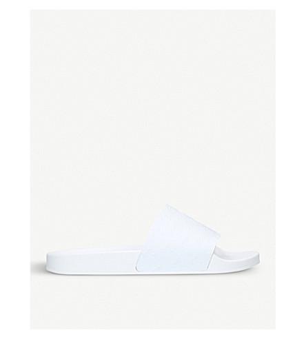 91998df4acf3 KURT GEIGER LONDON Waikato Palm rubber sliders (White
