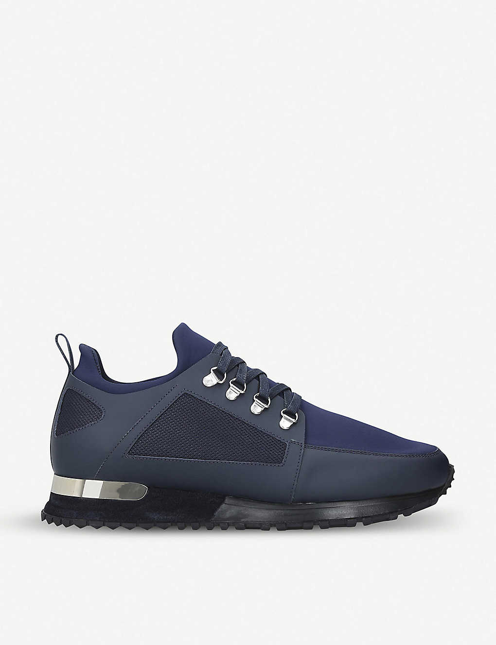 5da92f5e6a0 Hiker leather and neoprene trainers - Navy ...