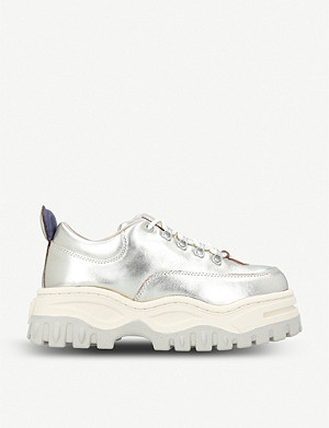 EYTYS Angel metallic leather trainers