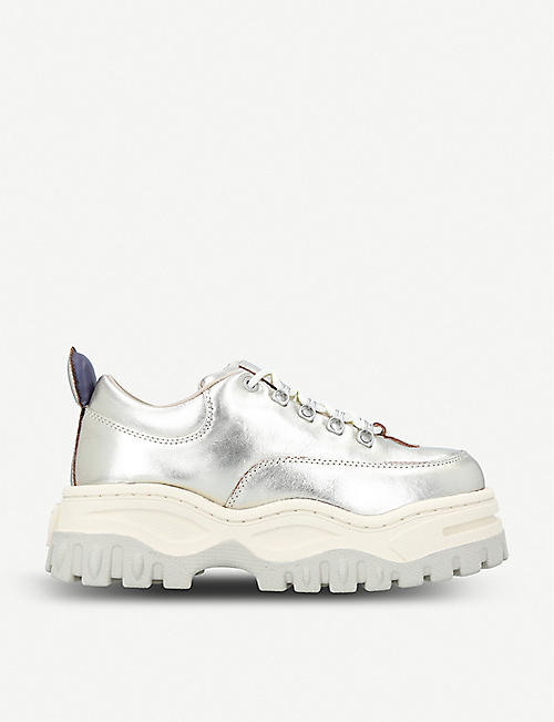 EYTYS: Angel metallic leather trainers