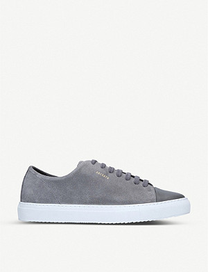 AXEL ARIGATO Cap-toe leather and suede trainers
