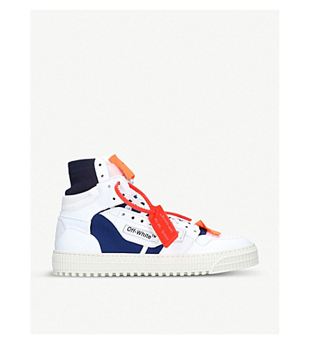 963537d94f93 OFF-WHITE C O VIRGIL ABLOH - Low 3.0 leather high-top trainers ...