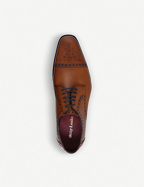 LOAKE Foley brogue leather Oxford shoes