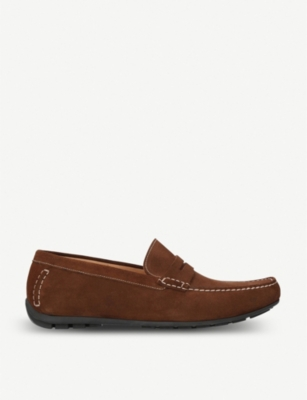 LOAKE Goodwood suede moccasins