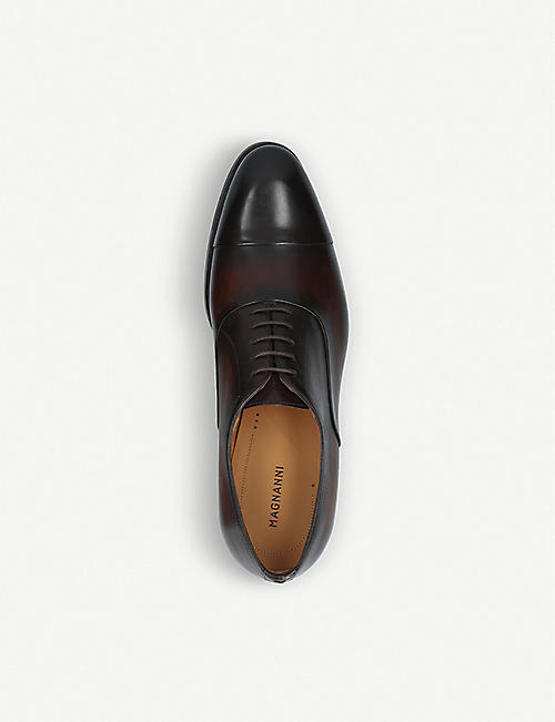 MAGNANNI Flex leather oxford shoes
