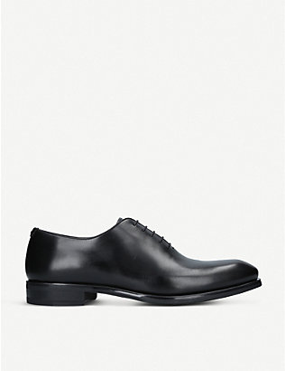 MAGNANNI: Flex Wholecut leather oxford shoes