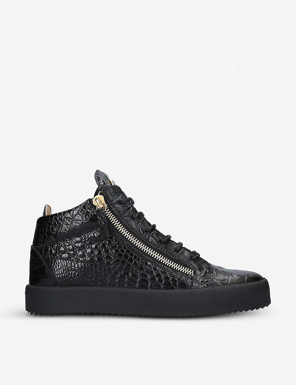18b6c2c2e0c00 GIUSEPPE ZANOTTI - Kriss croc-embossed patent-leather high-top ...