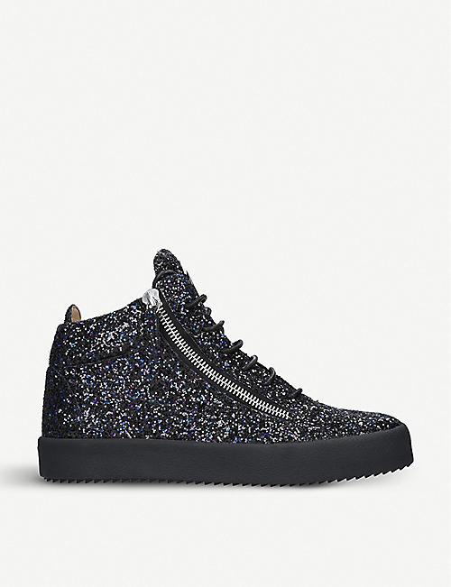 Loafers for Women On Sale, blue Jeans, jeans, 2017, 7 7.5 8 8.5 Giuseppe Zanotti