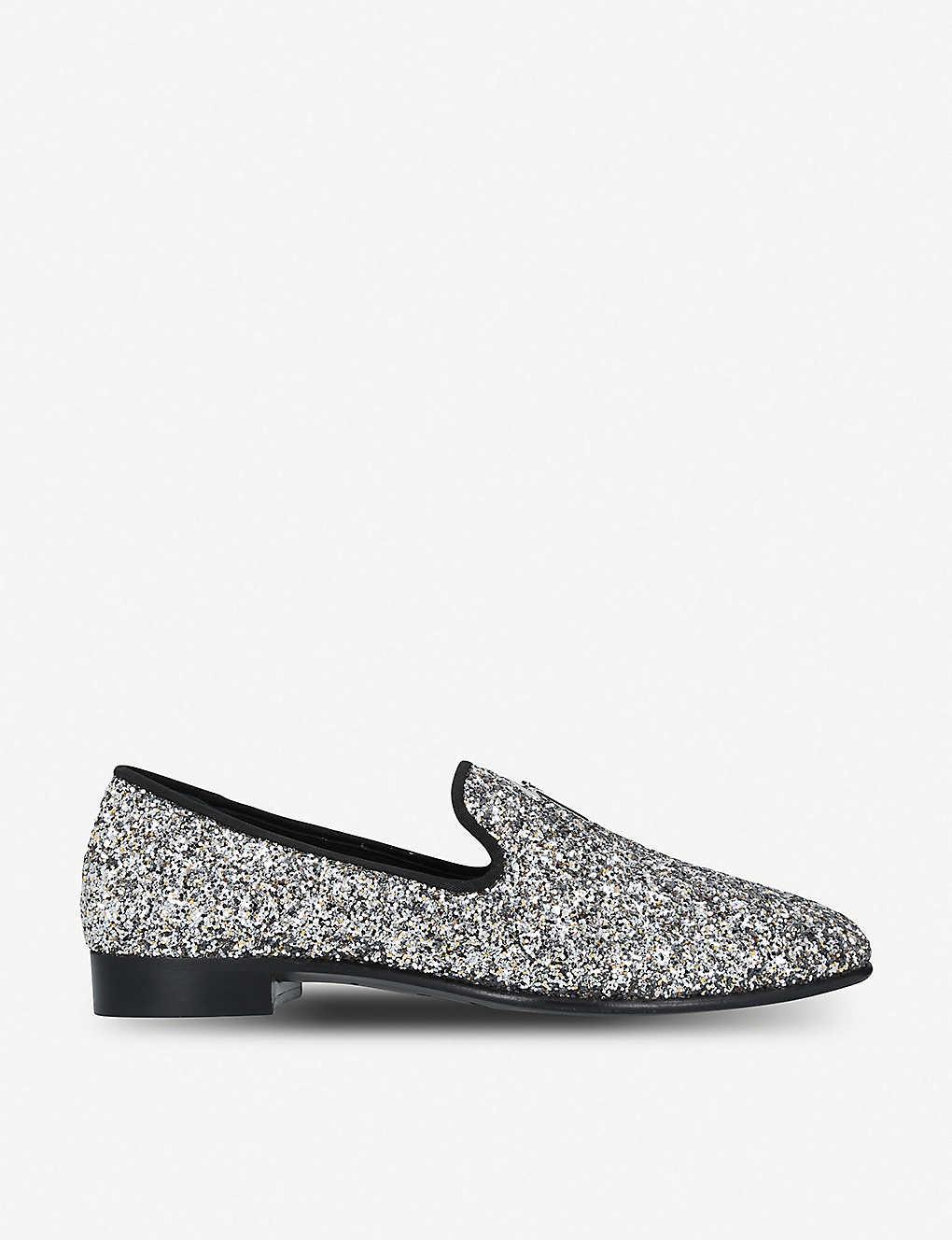 8ff956d8c7d15 GIUSEPPE ZANOTTI - All-over glitter leather slippers | Selfridges.com