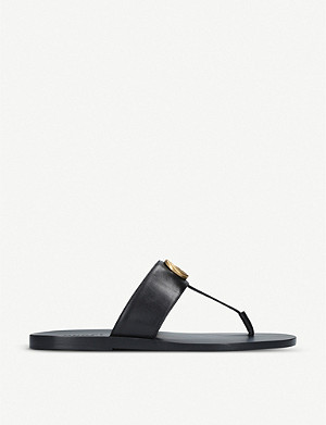 GUCCI Francis leather sandals