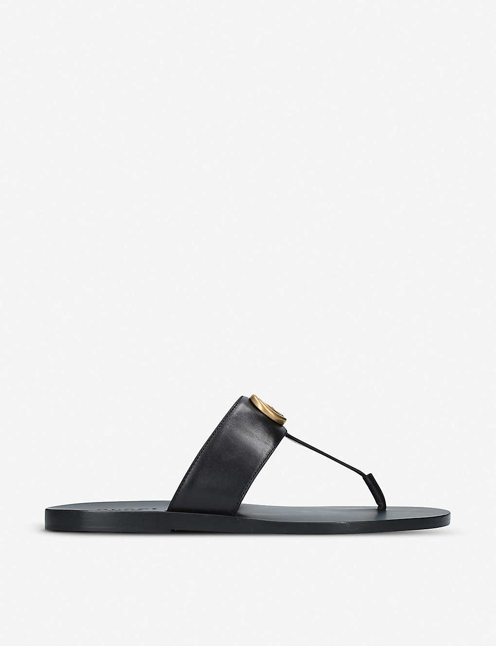 GUCCI: Francis leather sandals