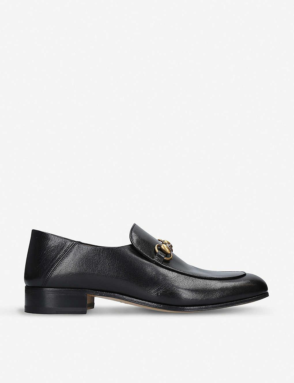 df40f33bd GUCCI - Mister leather loafers   Selfridges.com