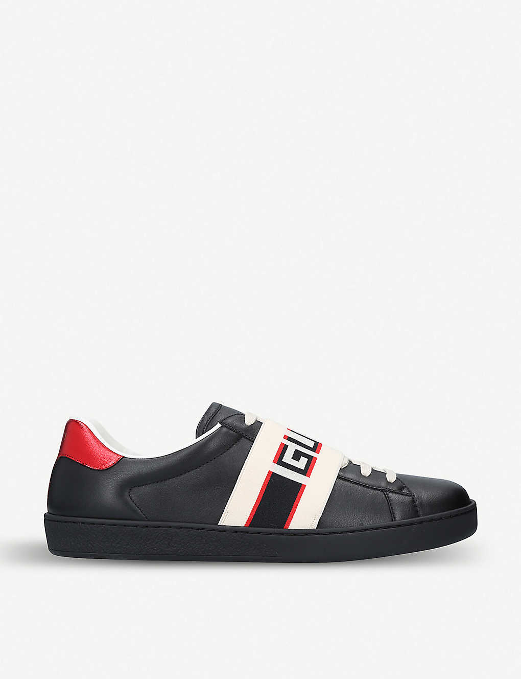 Gucci Shoes New Ace stripe leather trainers