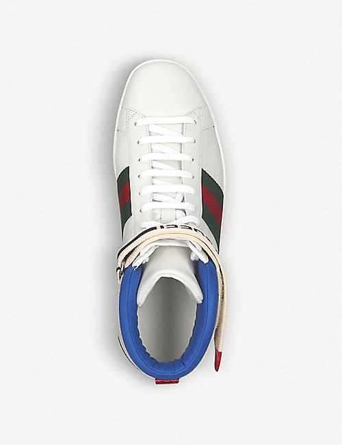 GUCCI New Ace leather high-top trainers